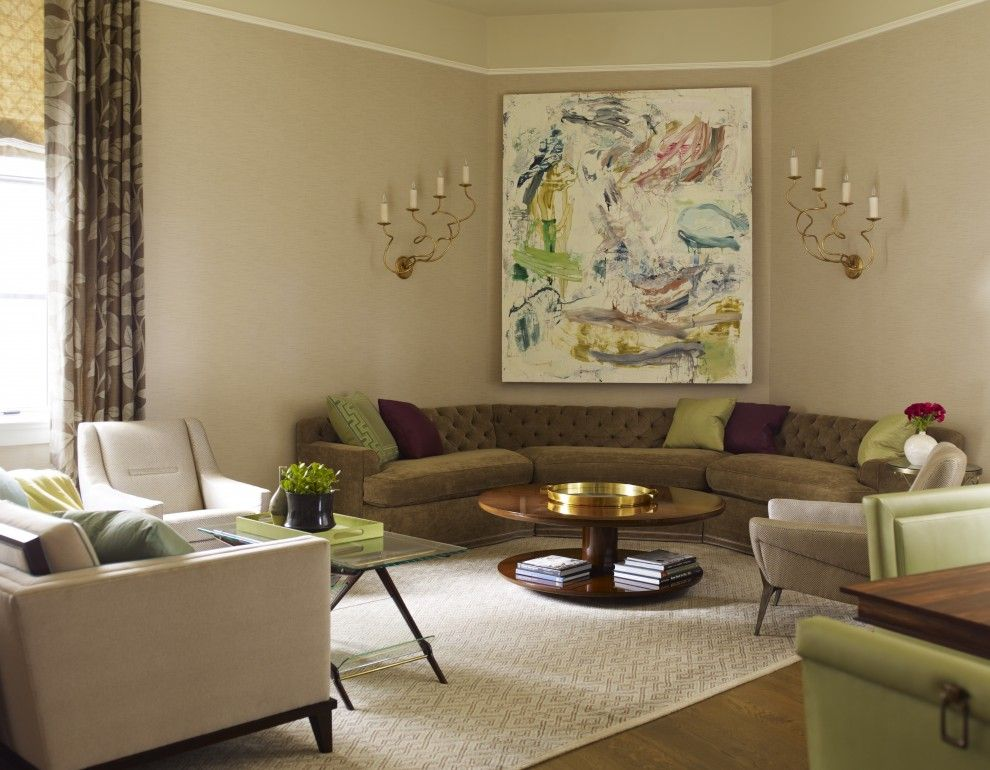half circle couch living room contemporary with area rug