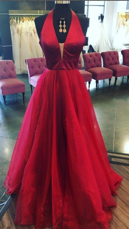 Tulle Prom Dress, Elegant Red Prom Dresses, 2018 | Dressing dressy ...