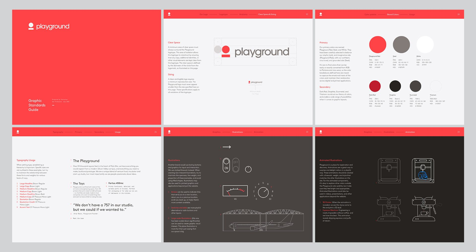 Character Playground Brand Guidelines Design Brand Guidelines Brand Guidelines Template