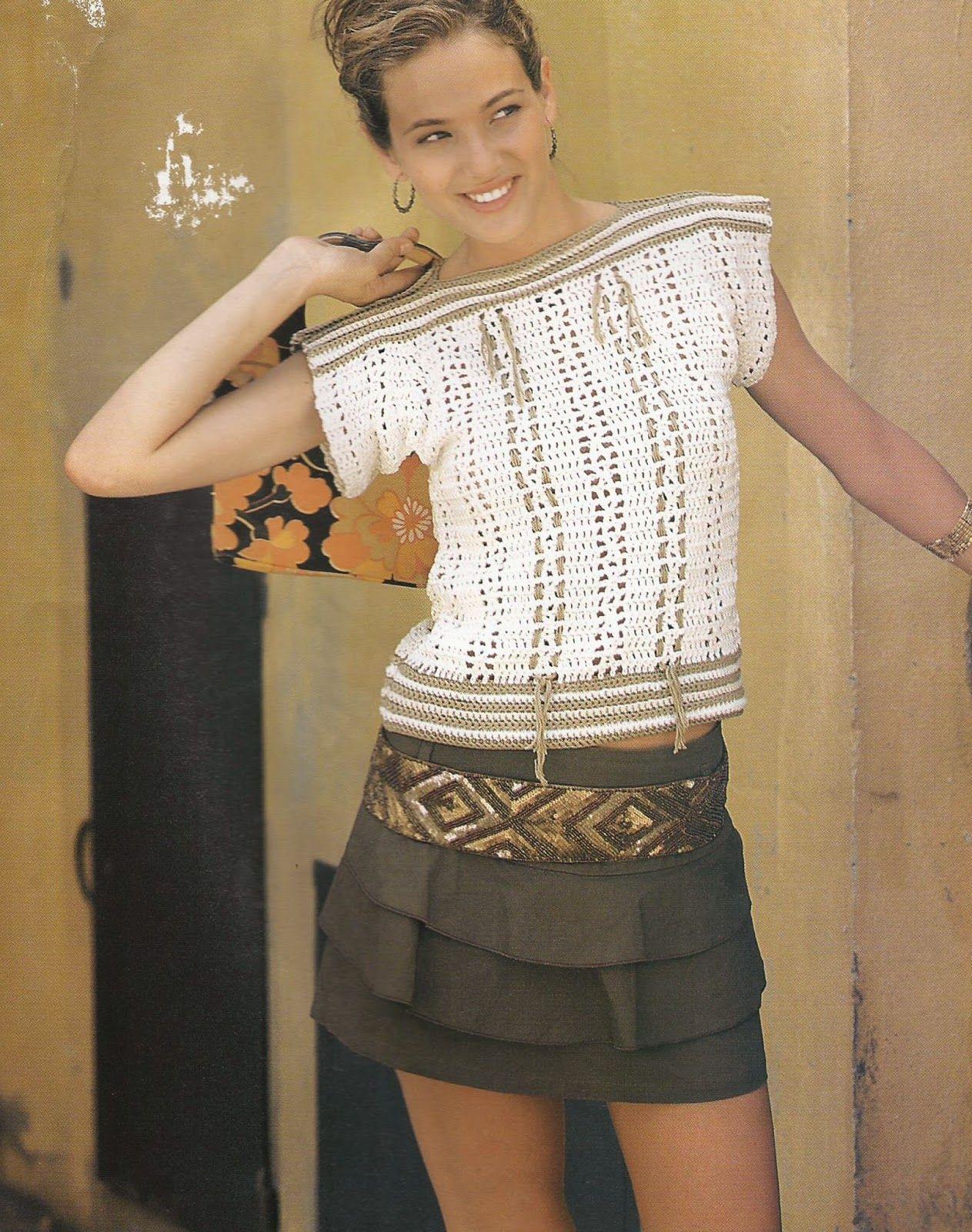 Vayámos de paseo!: Jersey Beige a Crochet | Instrucciones y Patrones ...