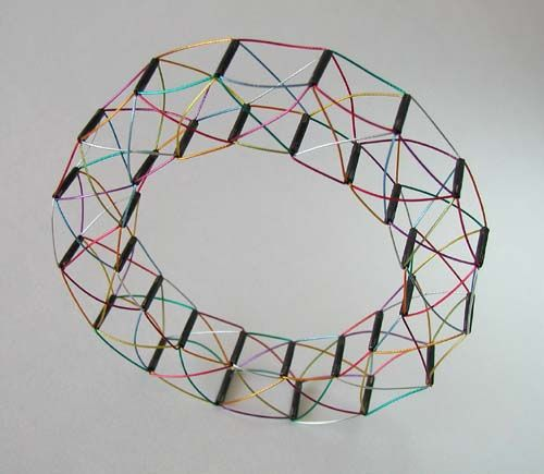YAEL KRAKOWSKI-IL, Cable Bracelet, oxidized silver, coated stainless steel cable, 9 centimeters in diameter