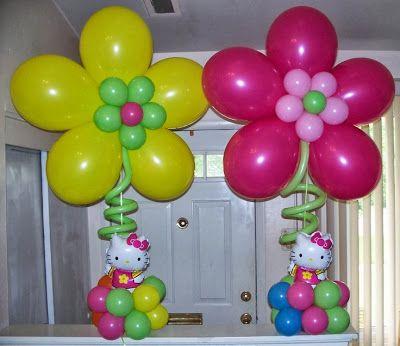 Como Hacer Flores Con Globos Decoracion Con Globos Englobarte - Como-hacer-flores-de-globos