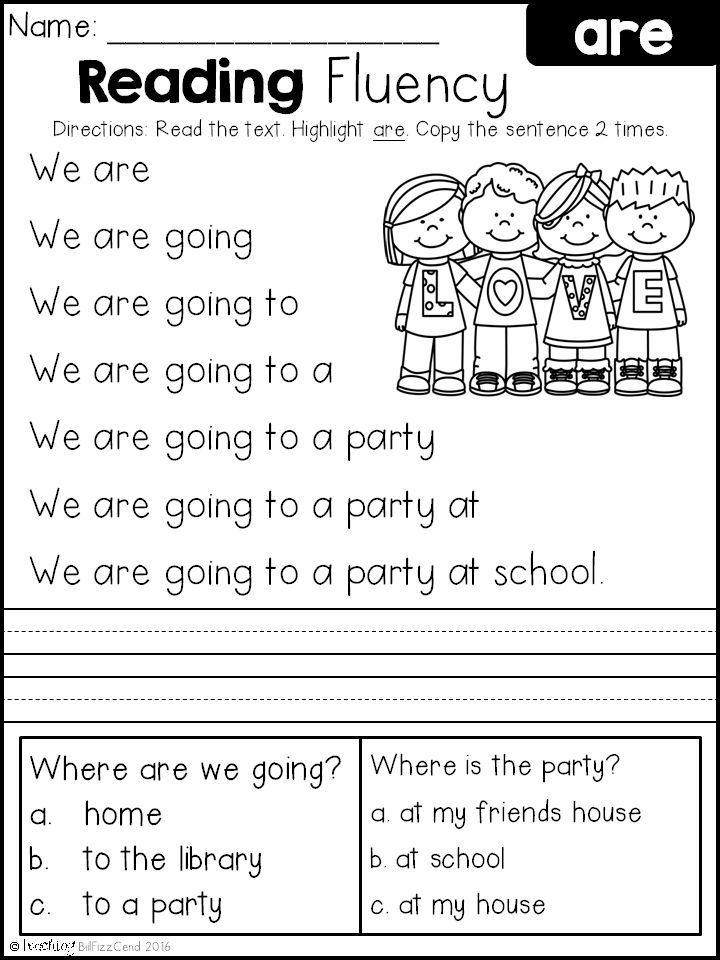 Reading Fluency and Comprehension (Set 2) | Englisch, Klasse und Kind