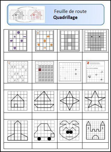 Repérage sur quadrillage | Ecole | Quadrillage, CE1 et Géométrie ce1