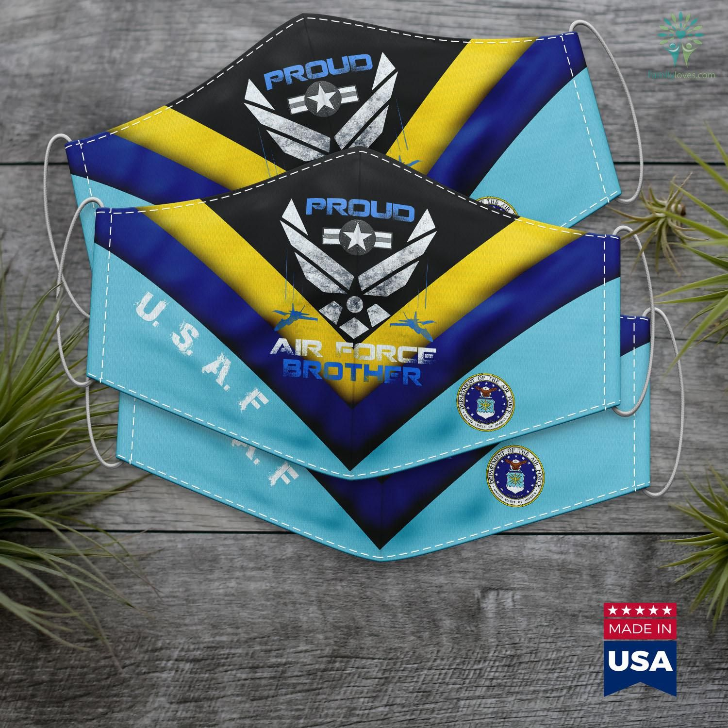 Air Force Vs Navy Proud Air Force Brother Face Mask Gift