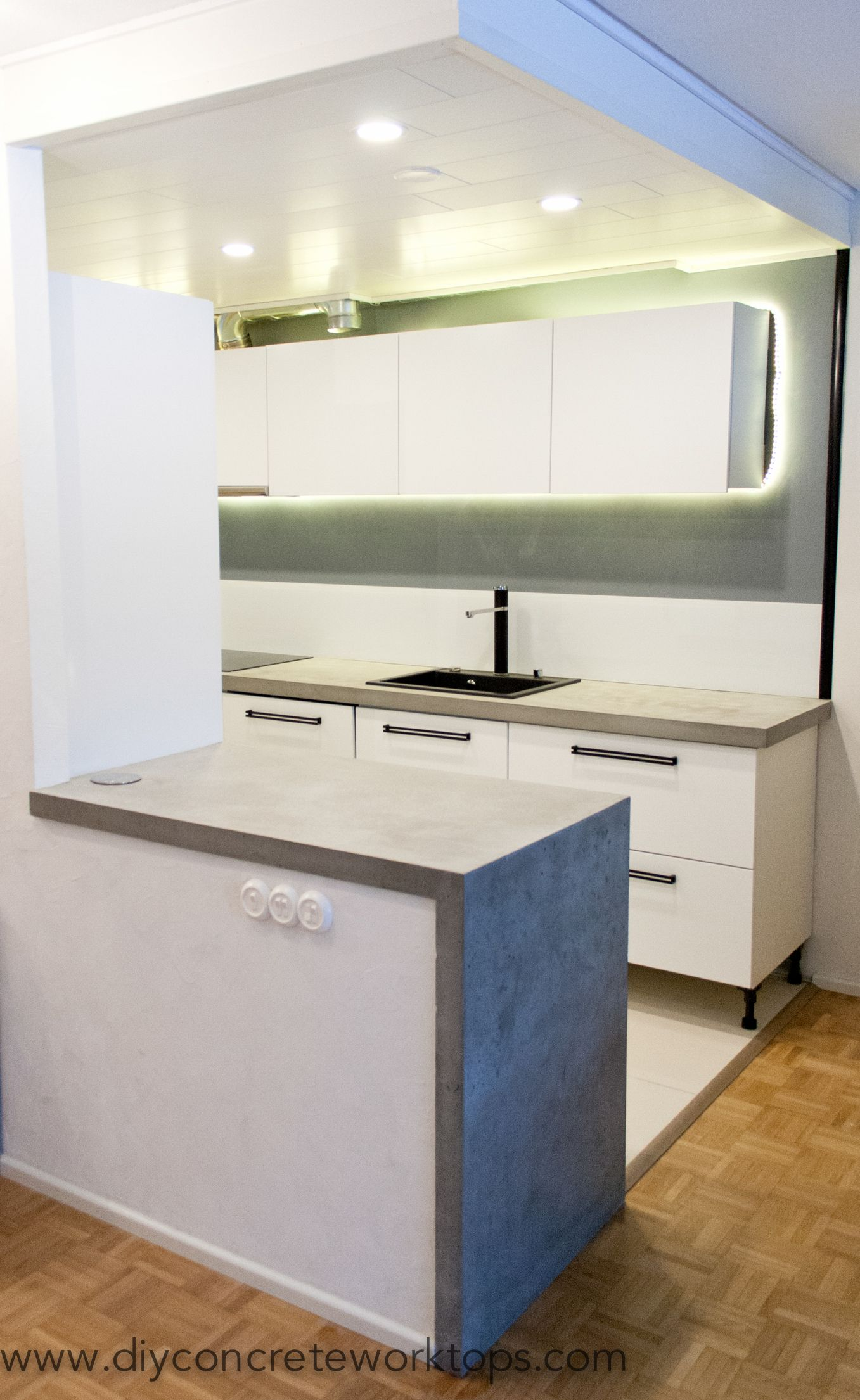 Concrete Countertop Made With Diy Z Counterform Concerte