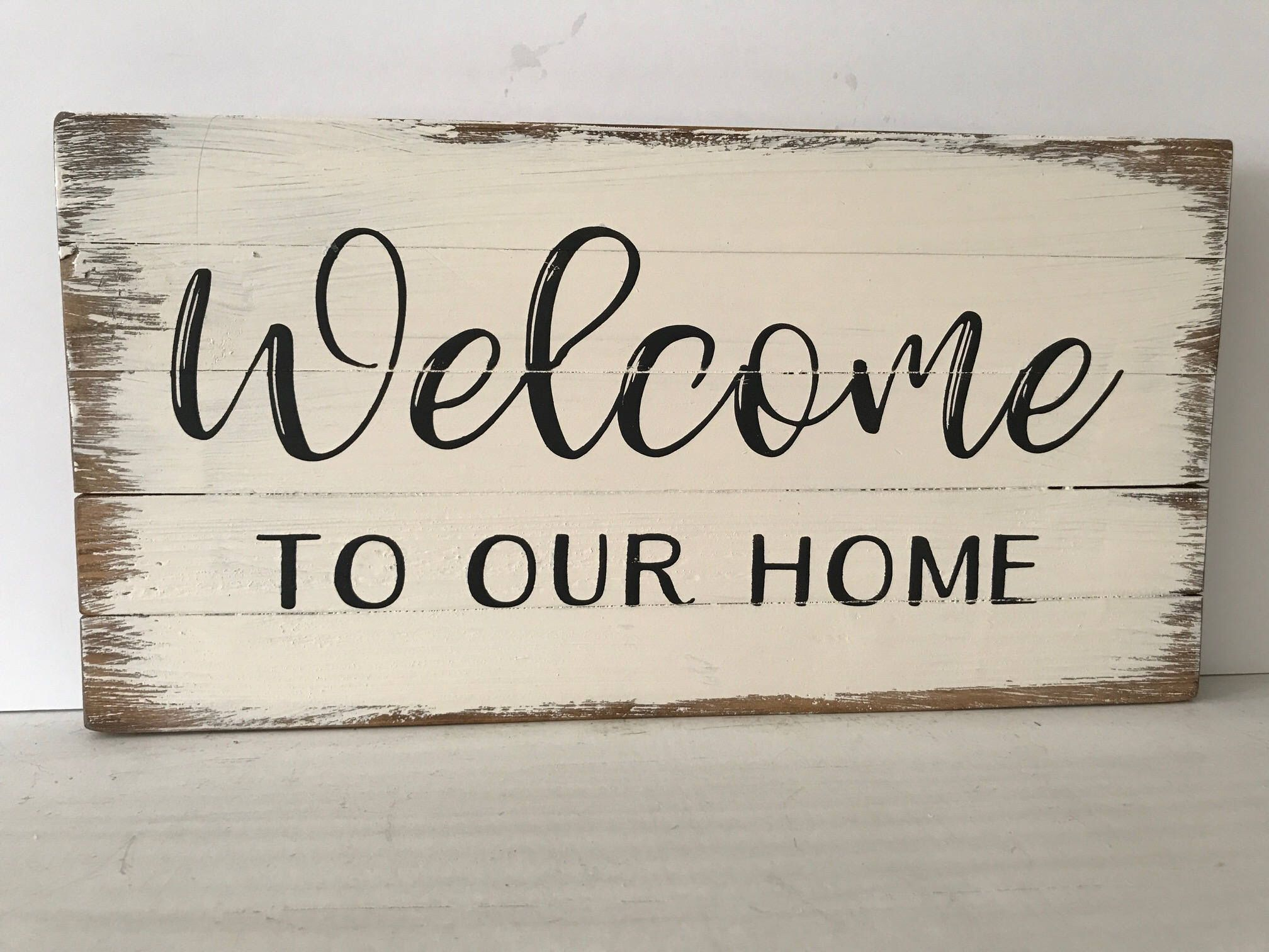Welcome To Our Home Sign hand-painted,Thanksgiving Sign,Grateful ...