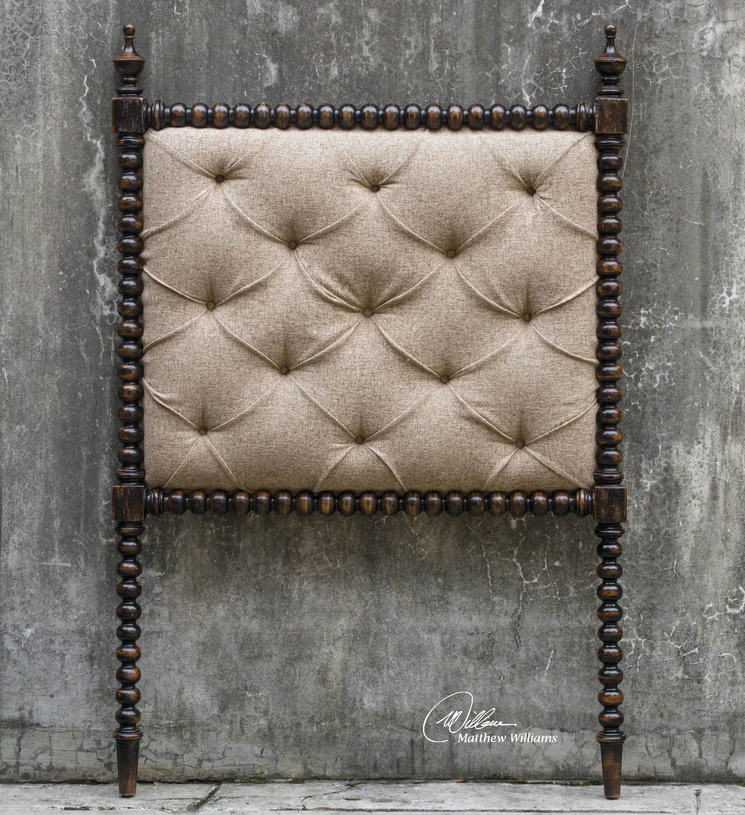Uttermost Andaluz Twin Upholstered Headboard Twin Upholstered