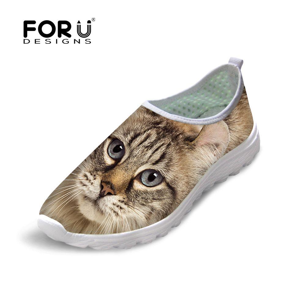 Cat With Bow Tie Cartoon Men's Anti-Slip Sneaker Mesh Running Shoes
