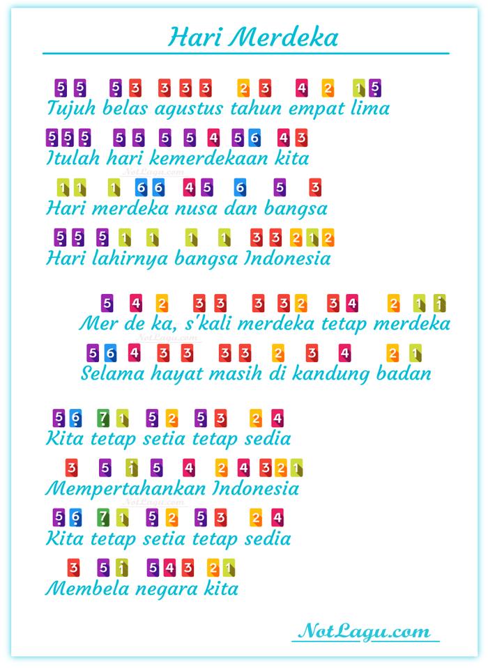 Not Angka Lagu Hari Merdeka : angka, merdeka, Not-lagu-17-agustus-tahun-45-hari-merdeka-not-angka, Roblox, Pictures,, Roblox,, Projects