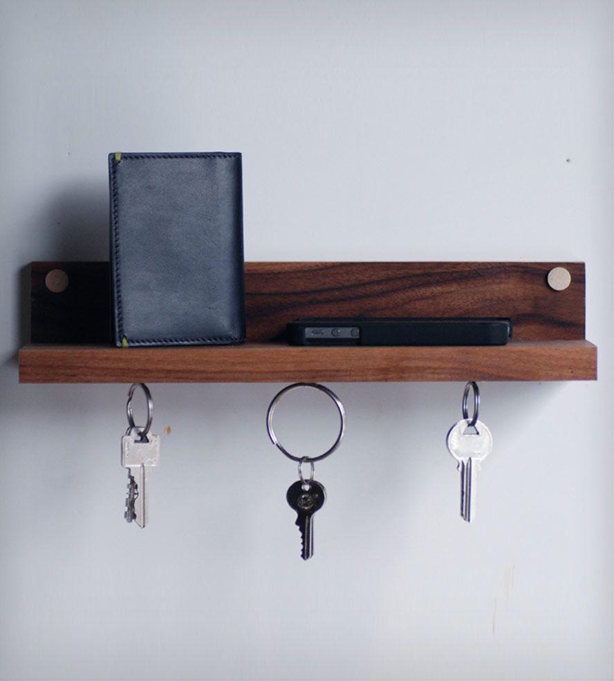 Magnetic Key Ring Holder Shelf