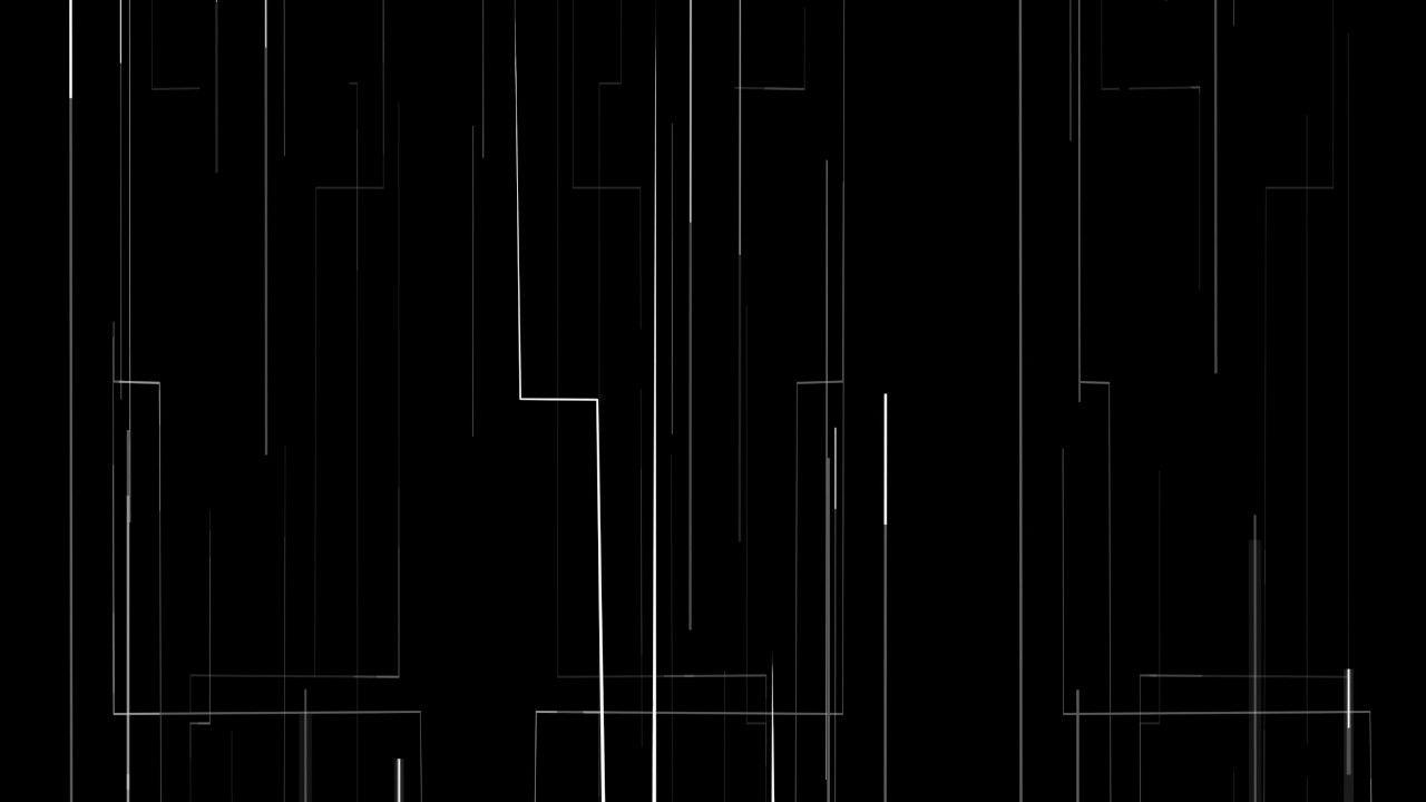 Digital White Lines Moving 4K Relaxing Screensaver
