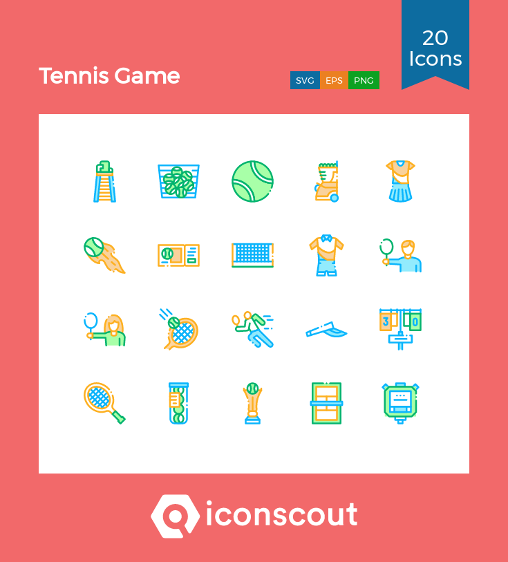Download Tennis Game Icon Pack Available In Svg Png Eps Ai Icon Fonts In 2020 Tennis Games Game Icon Icon Pack