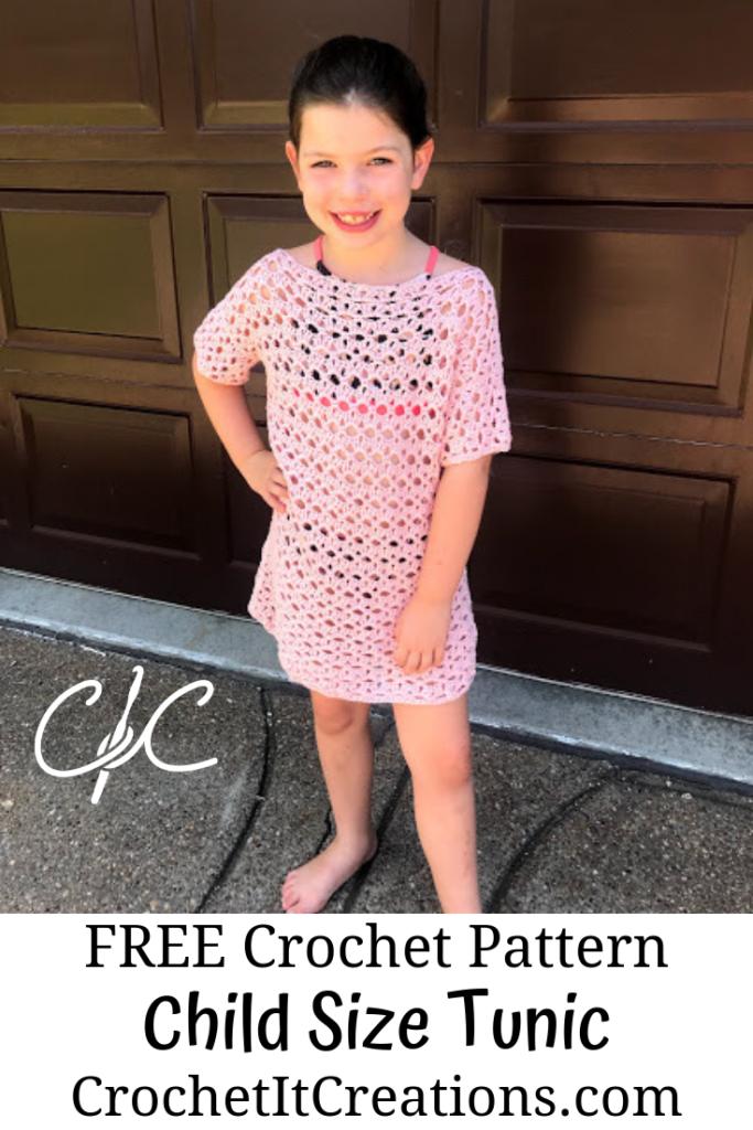 Kaycee Tunic Crochet Pattern in Child Sizes - Crochet it Creations