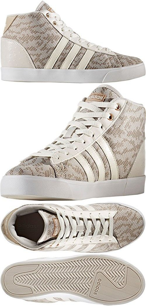 Adidas  mujer 's cloudfoam Daily Qt Mid zapatos (White, 8 B (m) US