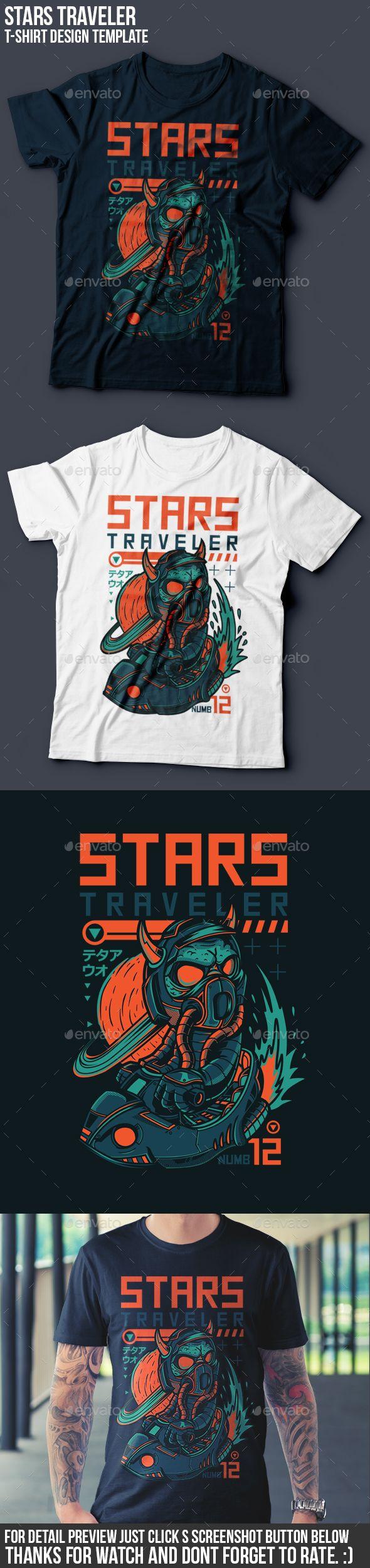 Shirt design eps - Stars Traveler T Shirt Design