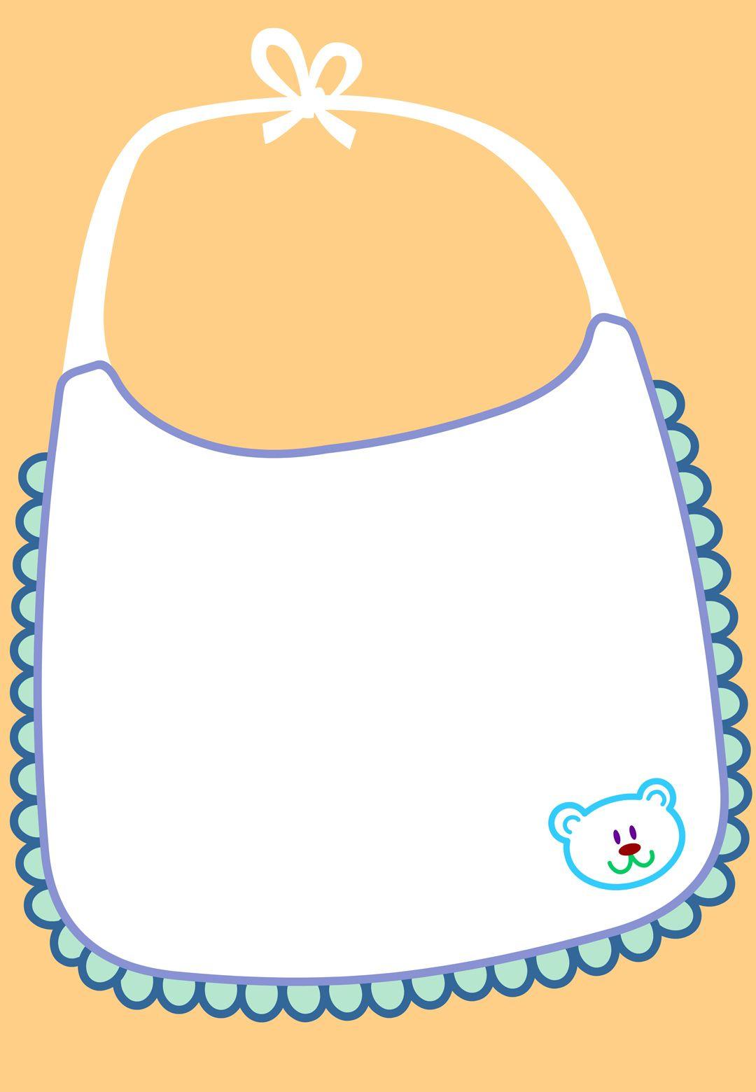 Free Printable Baby Apron Invitation