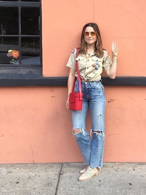 Sophia Bush Models Denim Outfits for Good Housekeeping