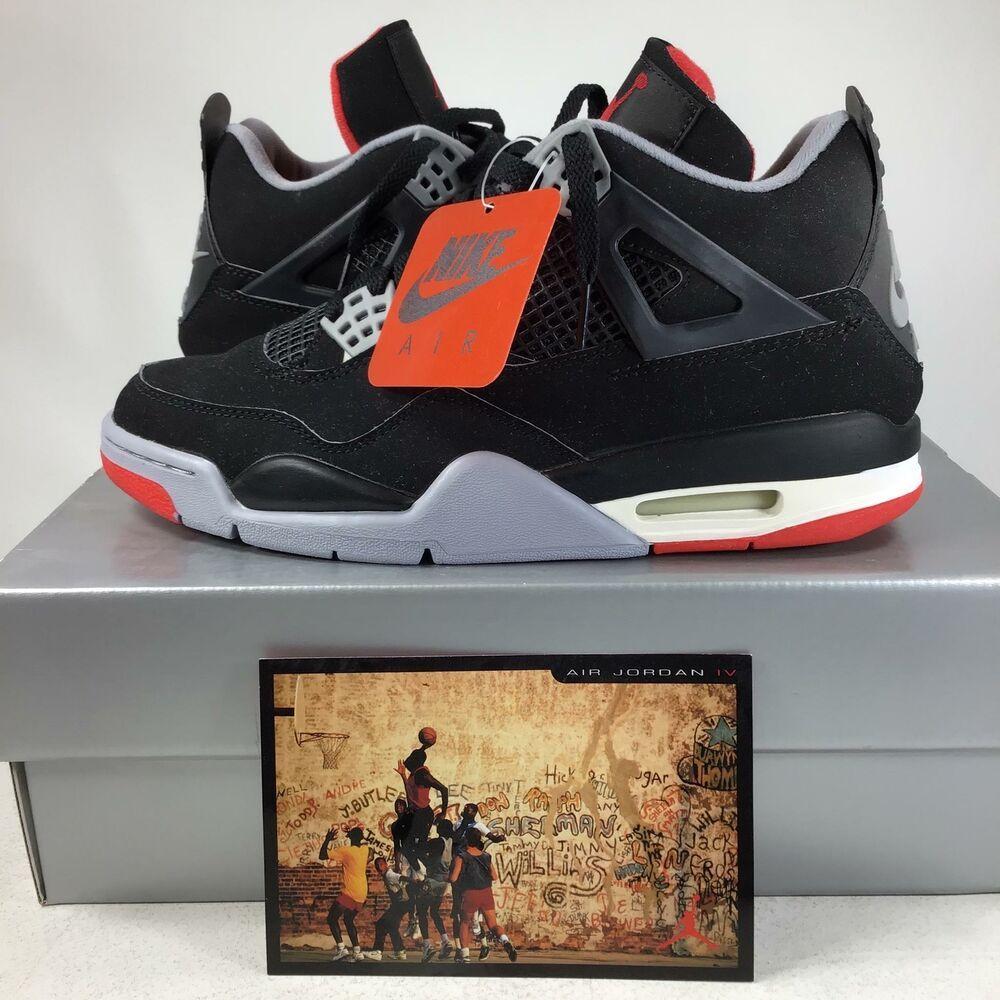 best authentic 12baa afa4e eBay  Sponsored 1999 Air Jordan 4 Retro Black Cement BRED 136013001 Sz 9  NIB Free SH!K2