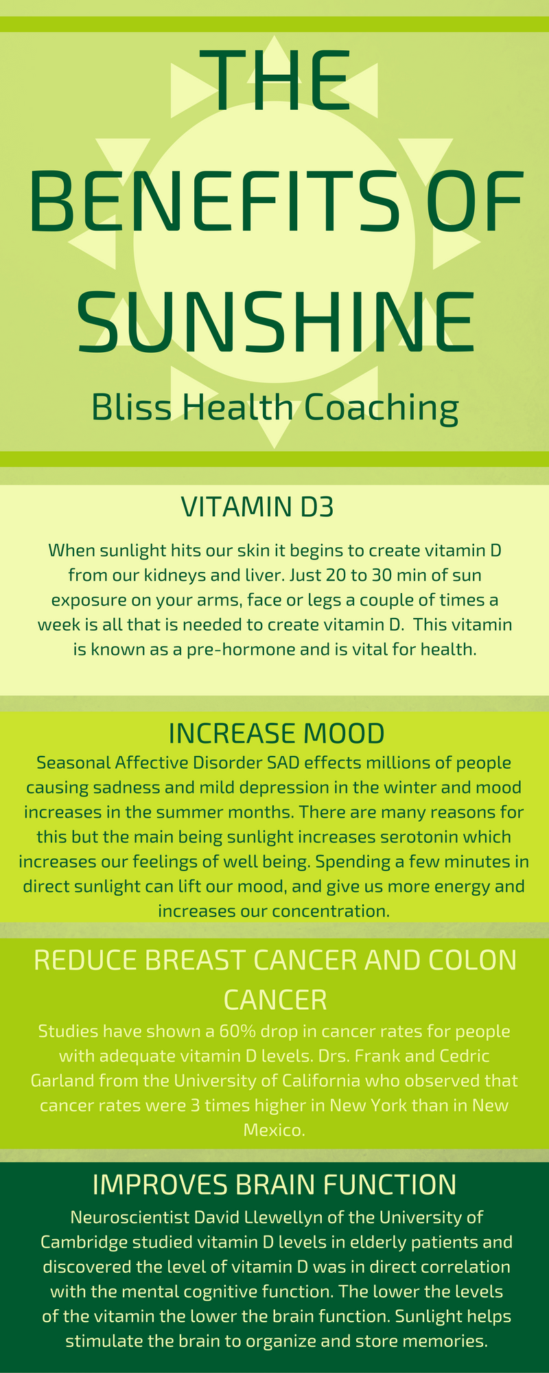 Enjoy 5 Benefits of Sunshine #health