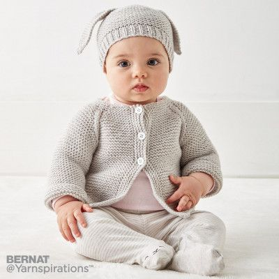 da89bdd9b619 Free Knitting Pattern for Easy Wee Stripes Baby Sweater and Hat ...
