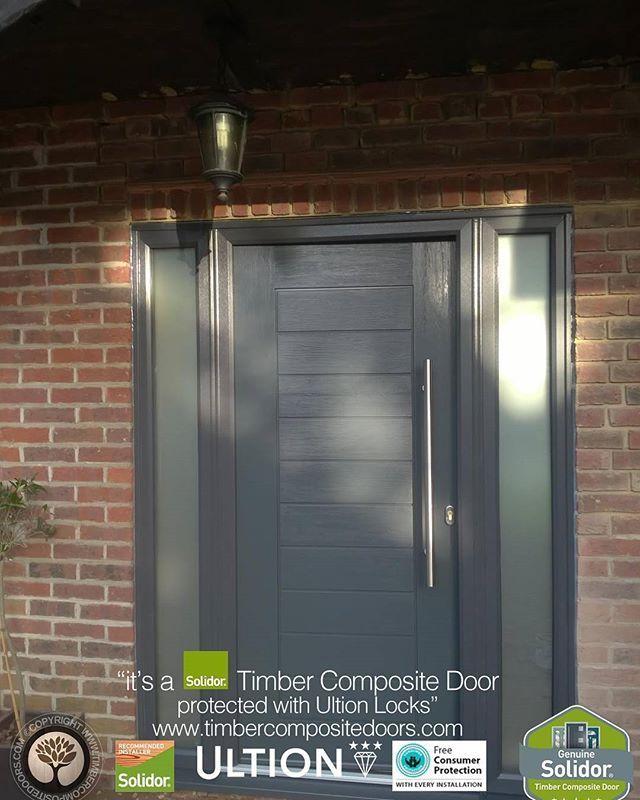 Anthracite Grey Palermo With Side Panels Solidor Timber Composite Door From Timbercompositedoors Com With 12 Months Composite Door Composite Front Door Doors