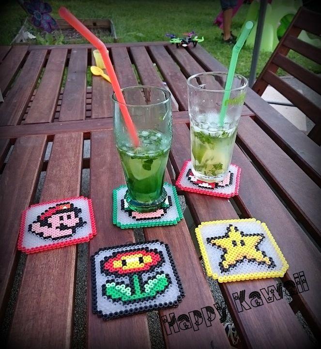 Dessous de verre et boîte de rangement Mario and Pac Man (Coasters and box)