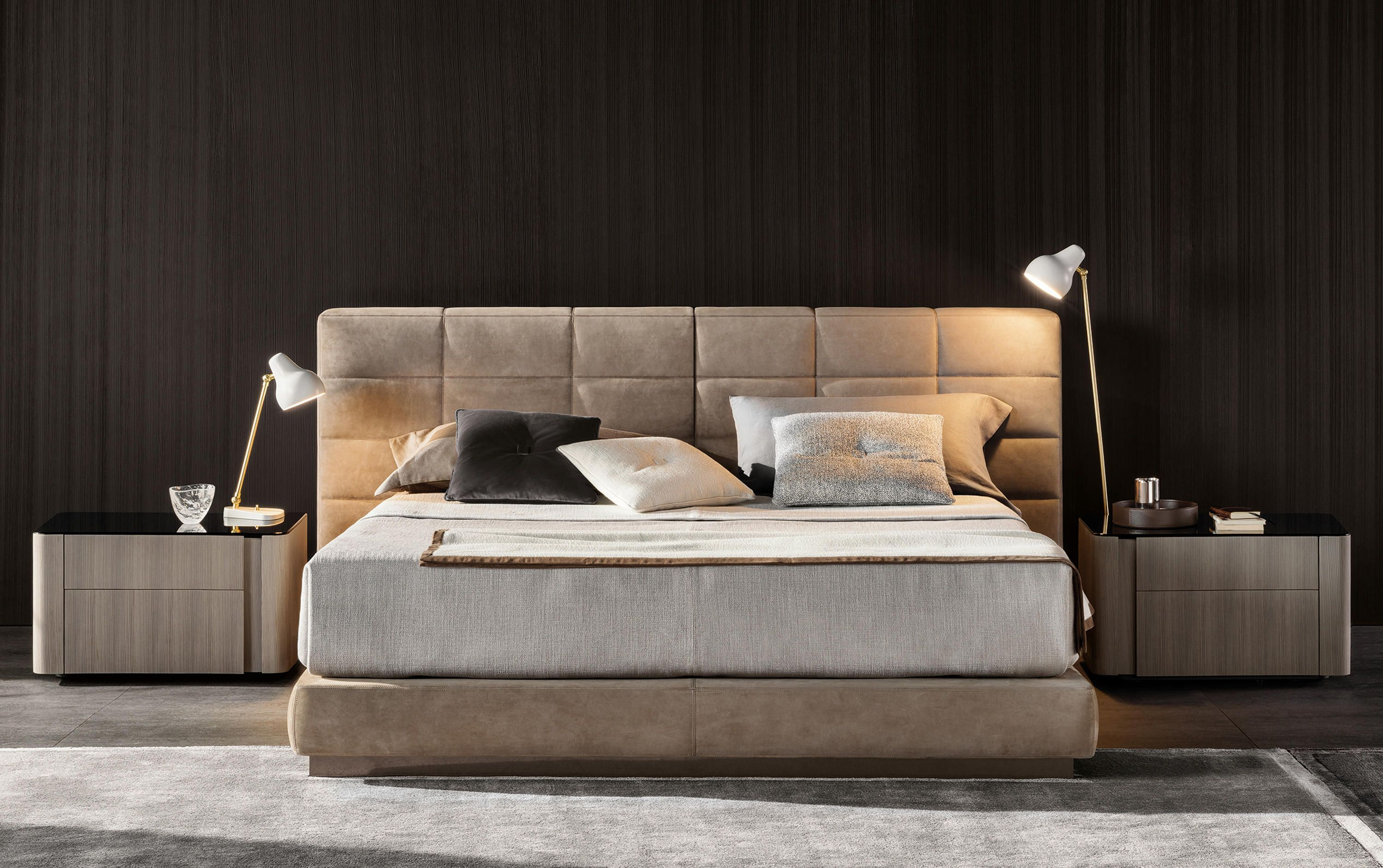 Lawrence Bed Designer Double Beds From Minotti All