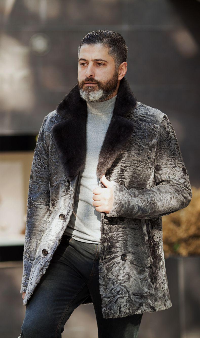 Swakara men's fur jacket by ADAMOFUR menstyle menfashion