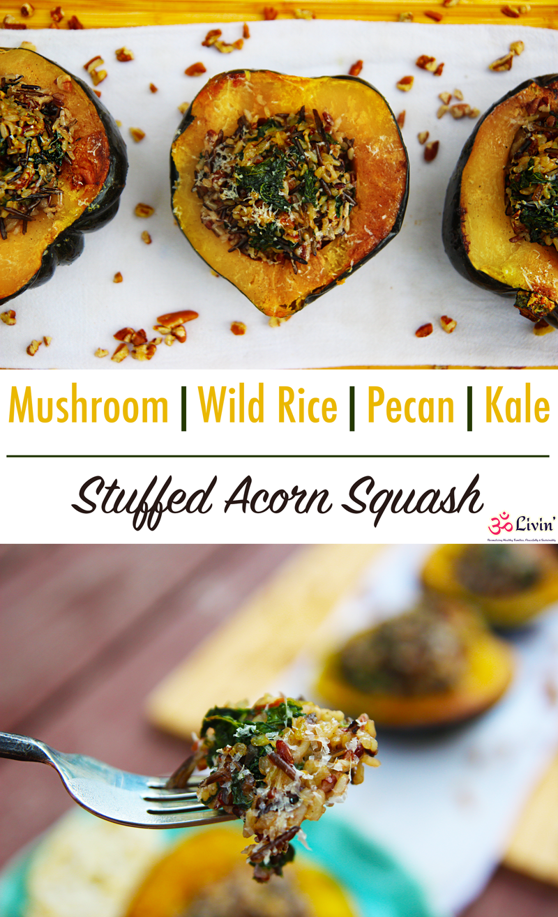 Mushroom Wild Rice Pecans Kale All Stuffed Inside Of A