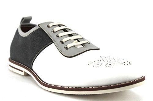 Ferro Aldo Men's 19508L Two Tone Brogue Design Lace up Shoes