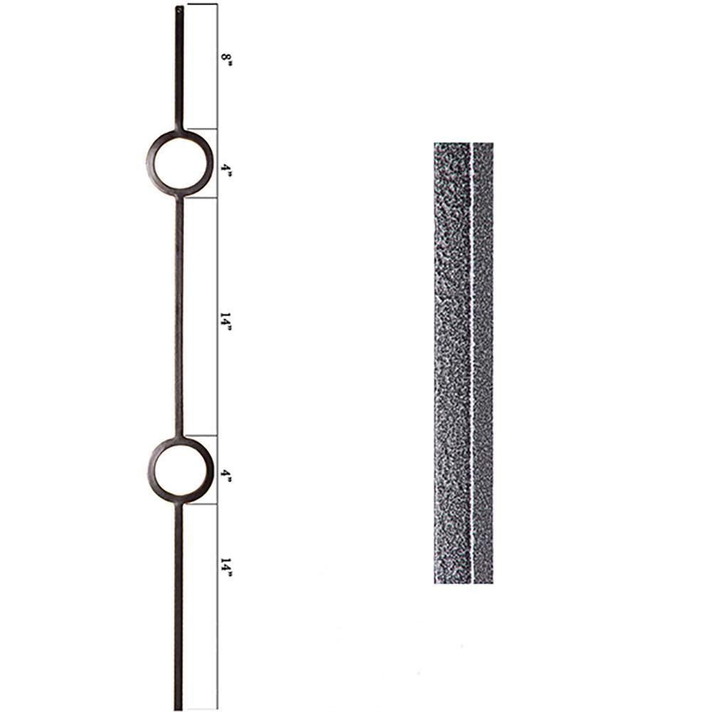 Best House Of Forgings Aalto Modern 44 In X 5 In Silver 400 x 300