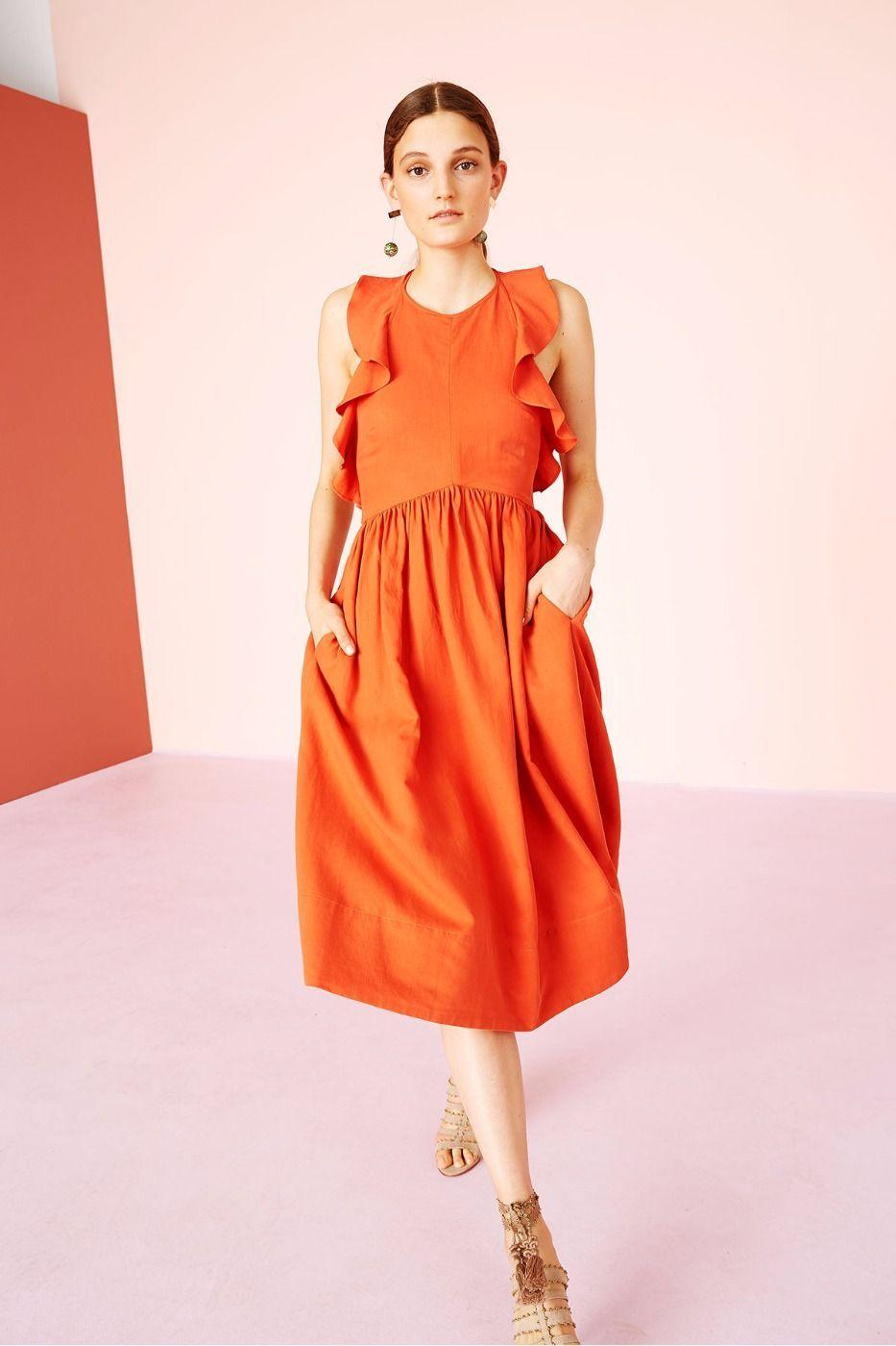 Cecily cross-back dress Sea New York 45qtY