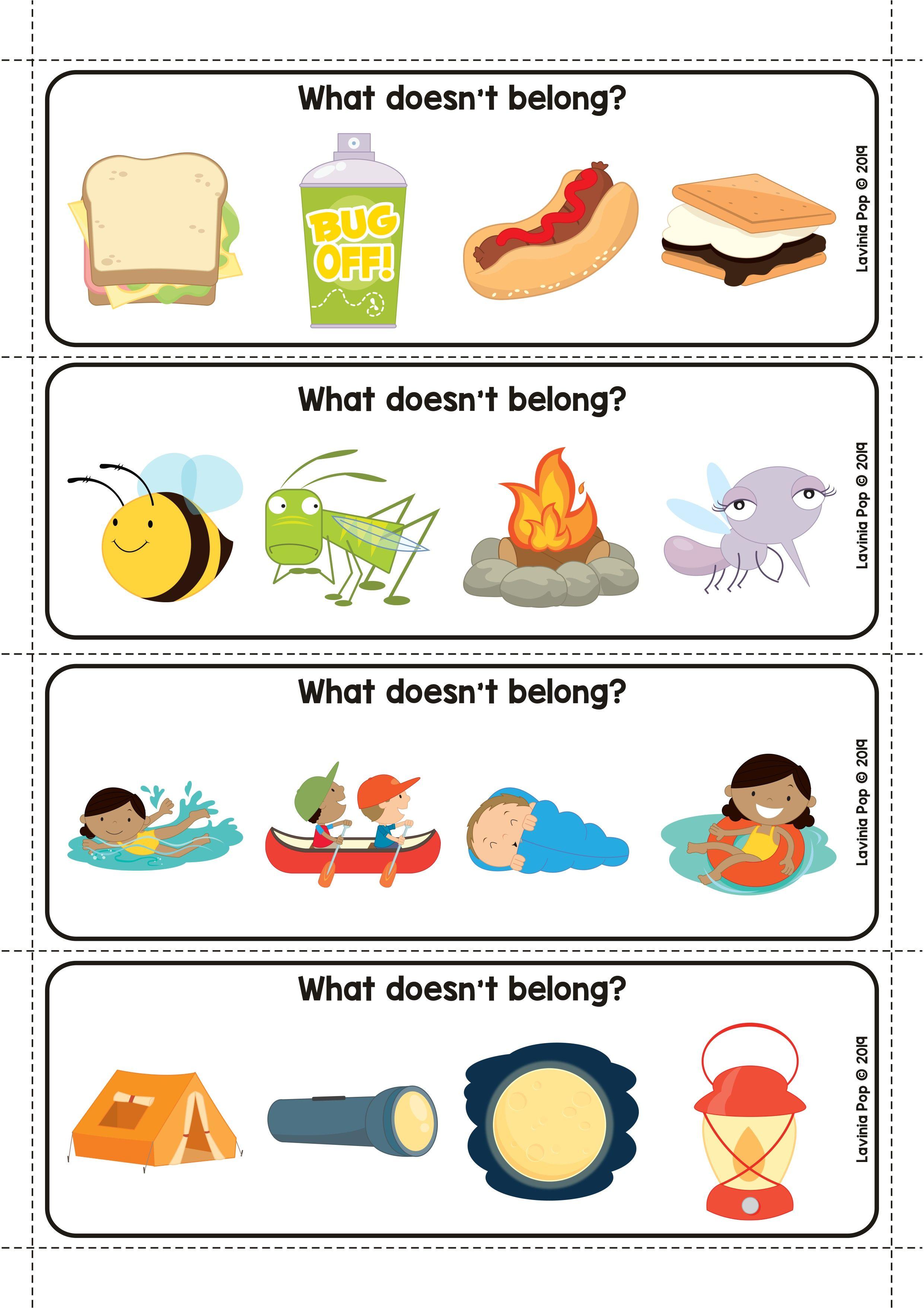 Camping Preschool Centers Camping Preschool Kindergarten Worksheets Sight Words Kindergarten Activities [ 3512 x 2482 Pixel ]