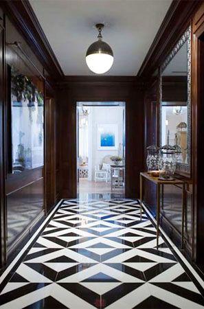 Black White Marble Floor