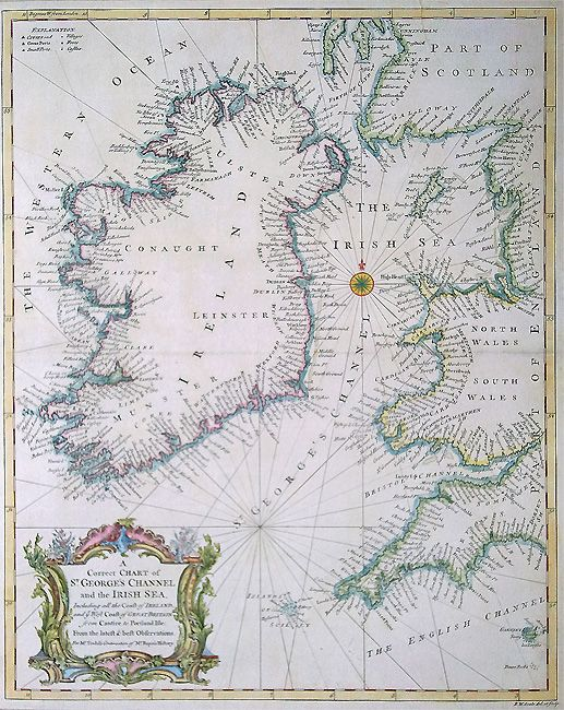 Antique nautical charts 18th century nautical sea chart of the