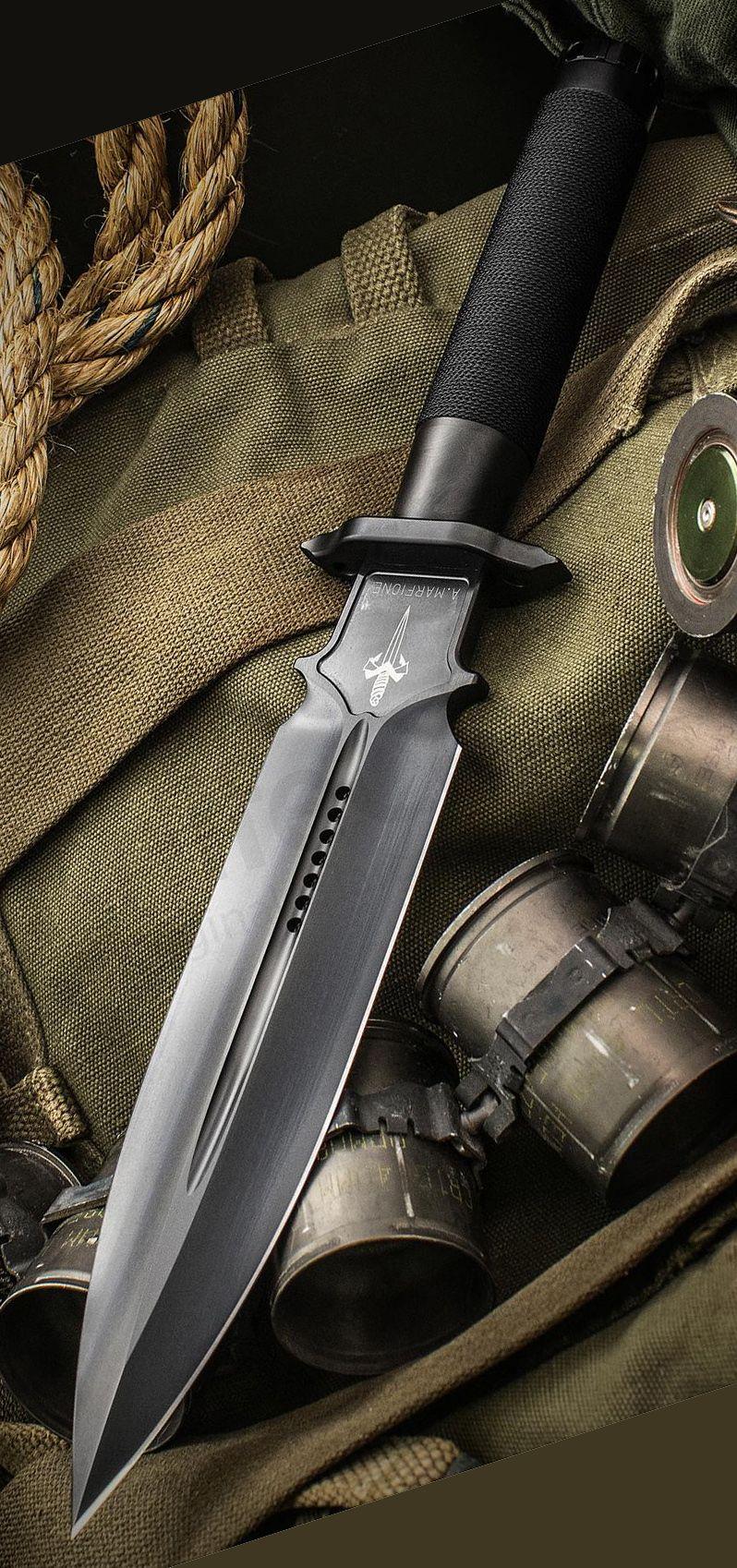 Marfione Custom Knives Interceptor Survival Knife Black