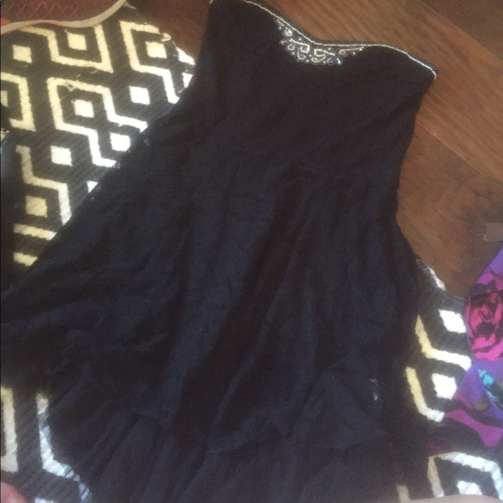 Free People Lace Beaded Dress