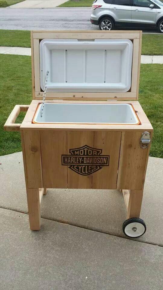 Wood Patio Cooler Plans: Harley Davidson Logo