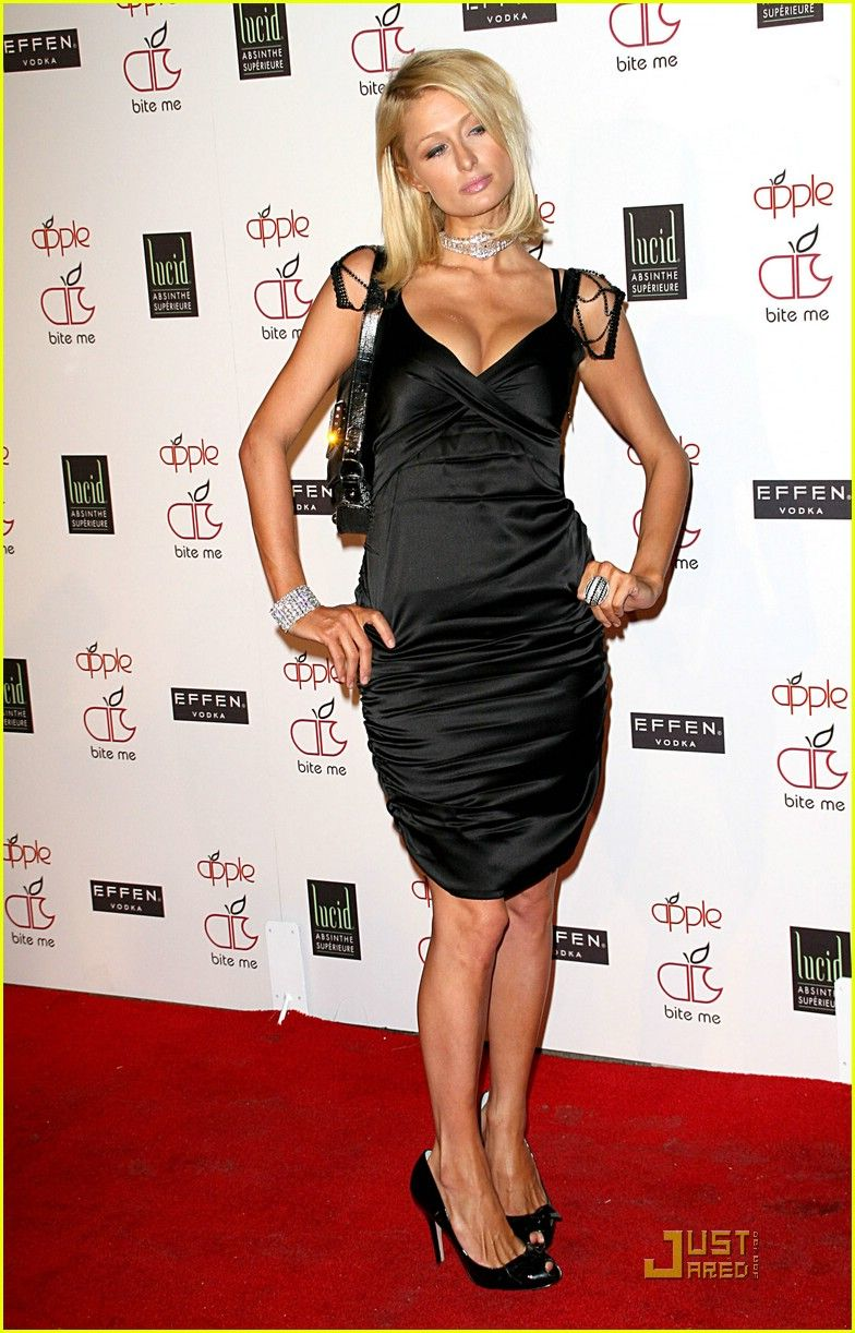 e7dede949a Paris Hilton sports a sparkly choker and detailed dress straps as she  arrives at the grand