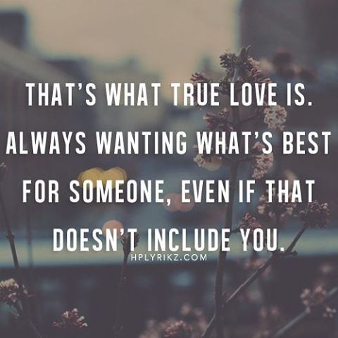 if you truly love someone let them go