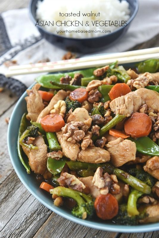 Toasted walnut asian chicken and vegetables recipe asian chicken toasted walnut asian chicken and vegetables chinese food recipesreal forumfinder Gallery