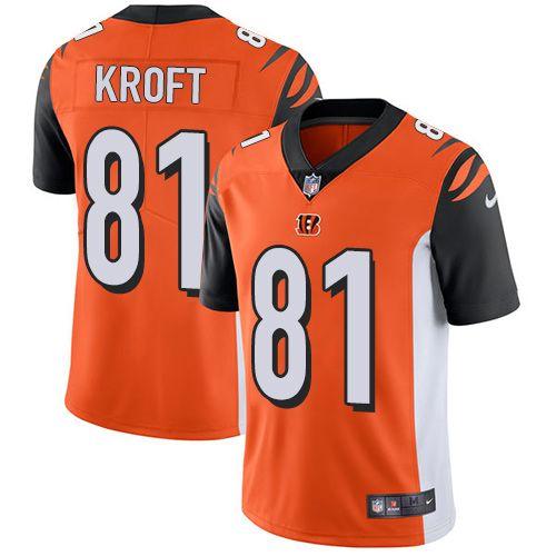 nike bengals 81 tyler kroft orange alternate mens stitched nfl vapor untouchable limited jersey