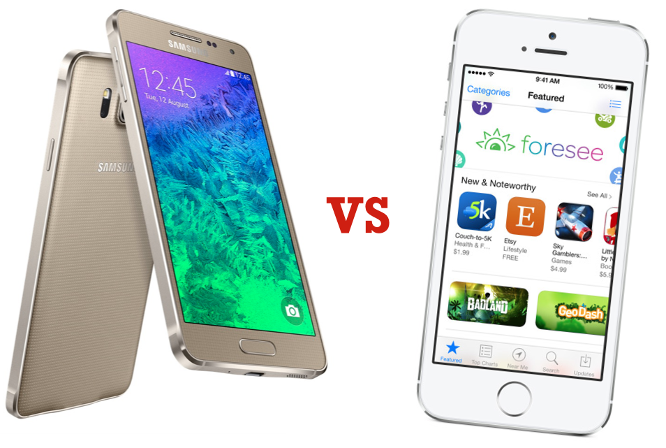 Samsung Galaxy Alpha vs iPhone 5s Apple, IPhone5s,
