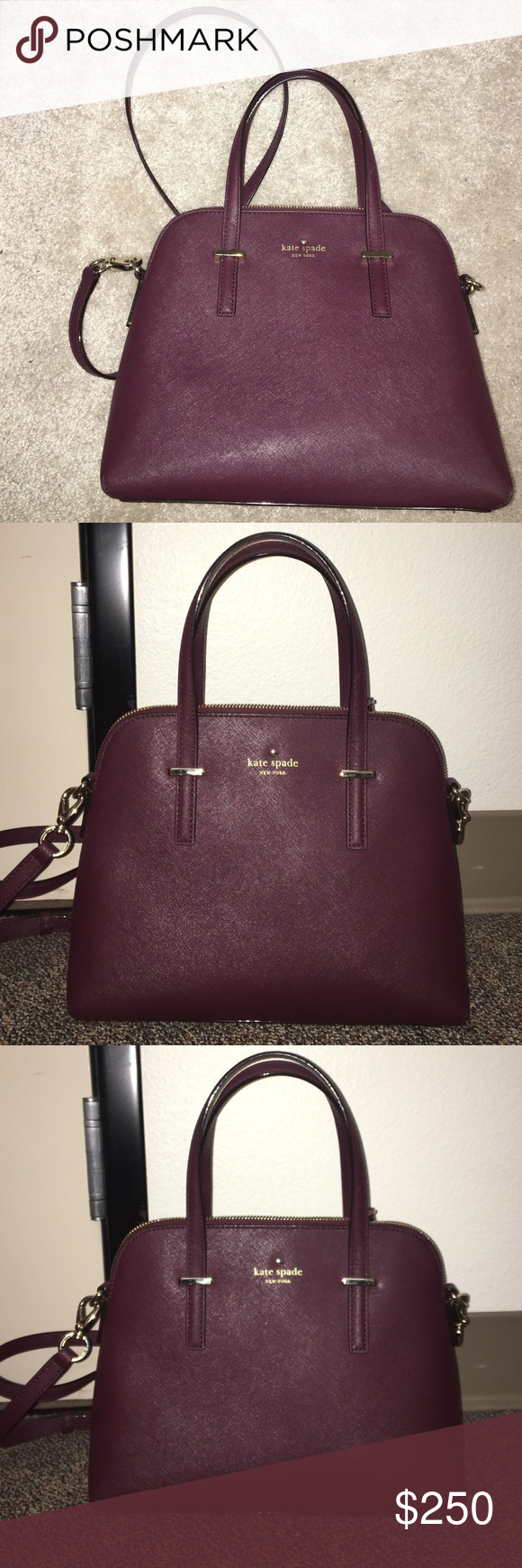 Kate Spade Cedar Street Maise Mulled Wine My Posh Picks Katespade Excellent Condition Or Mahogany Colored Photos Include Inside And Outside