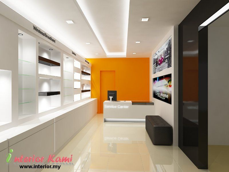 Computer shop interior design diseno interior de tiendas for Interior decorating online store