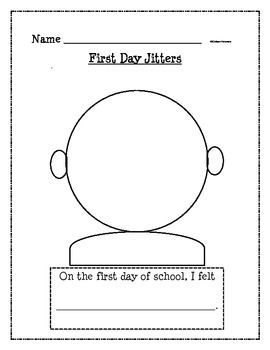 Great first day jitters worksheets Useful