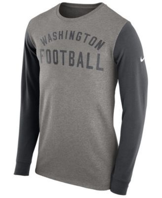 453cafa76a85 Nike Men s Washington Redskins Heavyweight Long Sleeve T-Shirt - Gray XXL