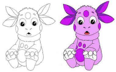 Лунтик - раскраска для малышей | Раскраски, Малыши, Для ...