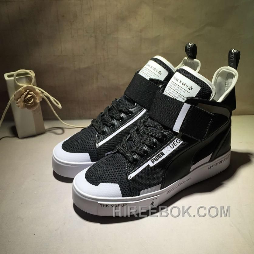 Lastest Puma Court Play X UEG Black High Top Women Men